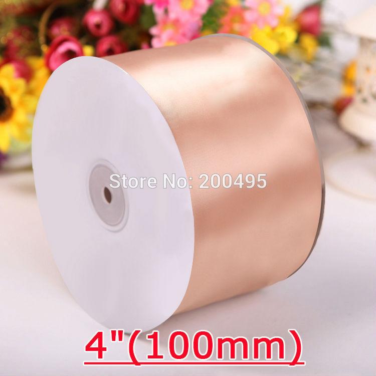 "[IuBuFiGo] ""(100 мм) двусторонняя атласная лента для свадьбы сатин 100 ярдов/рулон"