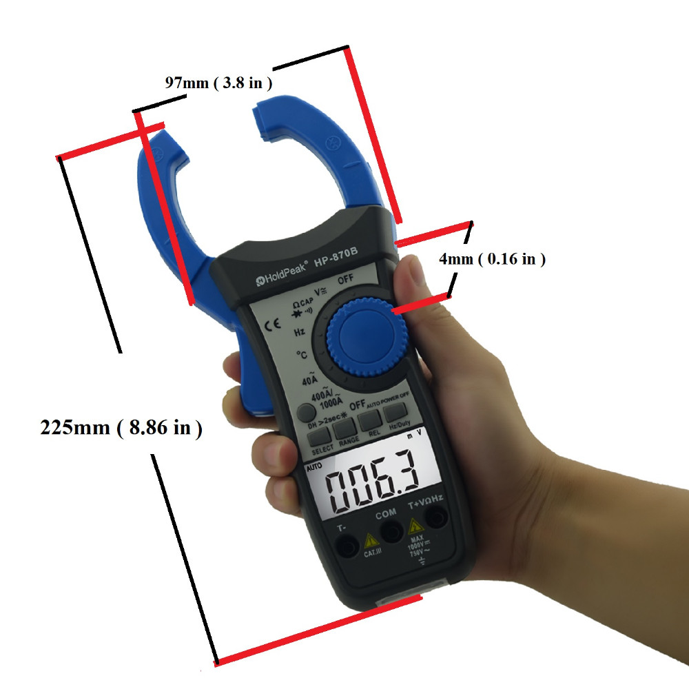 Auto Range DC AC Digital Clamp Meter Multimeter Pinza Amperimetrica Amperimetro Backlight Auto Power Off 100% original fluke 15b f15b auto range digital multimeter meter dmm