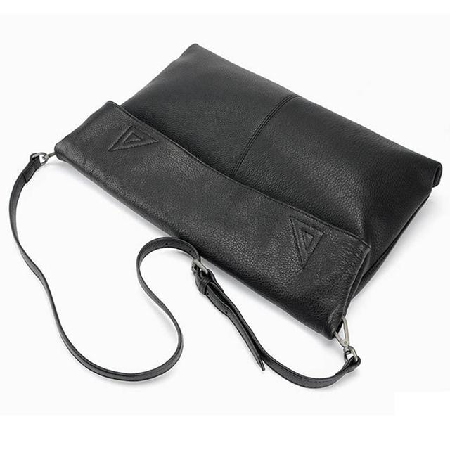 100% Genuine Leather Casual Tote Large Capacity Leather Women Handbag and Purse Fashion Black Shoulder Bag Lady Messenger bag