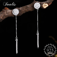 INALIS Personality Creative Funny Drop Earrings Love forever with Cubic Zircon CZ Female Women Jewelry 925 Sterling Silver