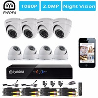 Mother S Day Eyedea 8 CH Phone View Motion Detect DVR 1080P 5500TVL Dome Outdoor Video