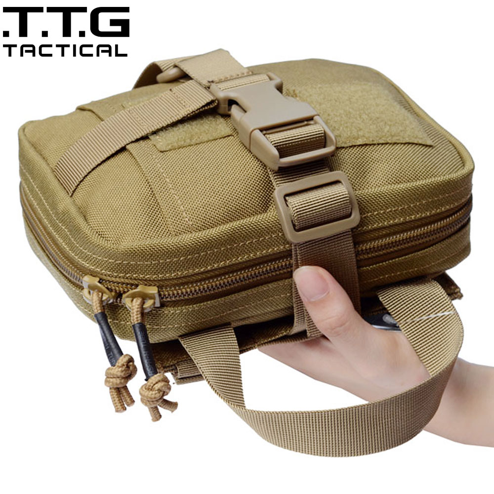 Assault Treatment Emergent Pouch First Aid Kit Military Combat MOLLE Medical Bag Quick Detach EMT First Aid Pouch Medic Bag