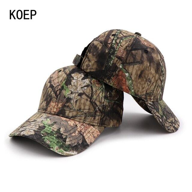 17149ab50da0f Koep 2018 Cap táctica CAMO Gorras de béisbol al aire libre Pesca Caza  sombrero camuflaje rápido