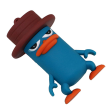 Perry The Platypus USB Flash Dive Cartoon Pen Drive Blue Duck USB Stick 16G/8G/4G Platypus Flash Memory Stick Memory Drive