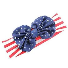 Mother and Baby Daughter Star and Striped Bow Knot Headwear