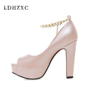 fba2d3f6610e LDHZXC 2018 women pumps wedding shoes high heels platform