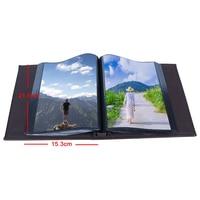 100 Sheets Photos Album Scrapbook Life Photograph Postcard Record Album Loose-leaf Interleaf Type PU Cover Large Photos Albums
