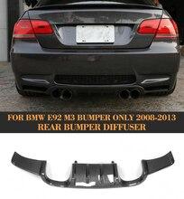 Car Rear Bumper Lip Spoiler Diffuser For BMW E92 Coupe E93 Convertible M3 2008-2013 Non 4 Door Carbon Fiber Splitter Apron цена в Москве и Питере