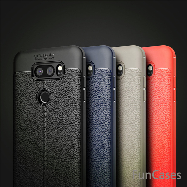 the latest 6ce81 c5180 US $4.95 28% OFF|For LG V30 Case Luxury TPU Silicone Imitation Leather Case  Cover For LG V30 Case For LGV30 V30 capa channel funda handphone-in Fitted  ...