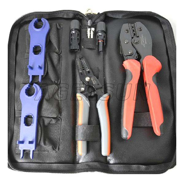 AGELUN FSPV-1B  Solar Pressing Tool Kits for Solar Panel PV Cables (2.5-6.0mm2) with Solar Press Plier and Wire Stripper 550mm 20m diy solar panel eva film sheet for pv cells encapsulation