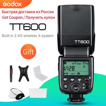 Godox TT600 2 4G bezprzewodowa lampa błyskowa GN60 Master Slave speedlite do canona Nikon Sony Pentax Olympus Fuji Lumix tanie i dobre opinie Fujifilm Leica 400g 64*76*190mm 4*AA batteries 5600-200K