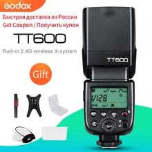 Godox TT600 2.4G kablosuz GN60 Master/Slave kamera flaş Speedlite Canon Nikon Sony Pentax Olympus Fuji Lumix