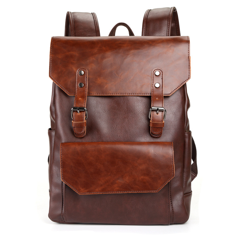 Crazy Horse Men Backpack Leather Vintage Daypack Travel Casual School Book Bags Brand Male Laptop Bags Rucksack