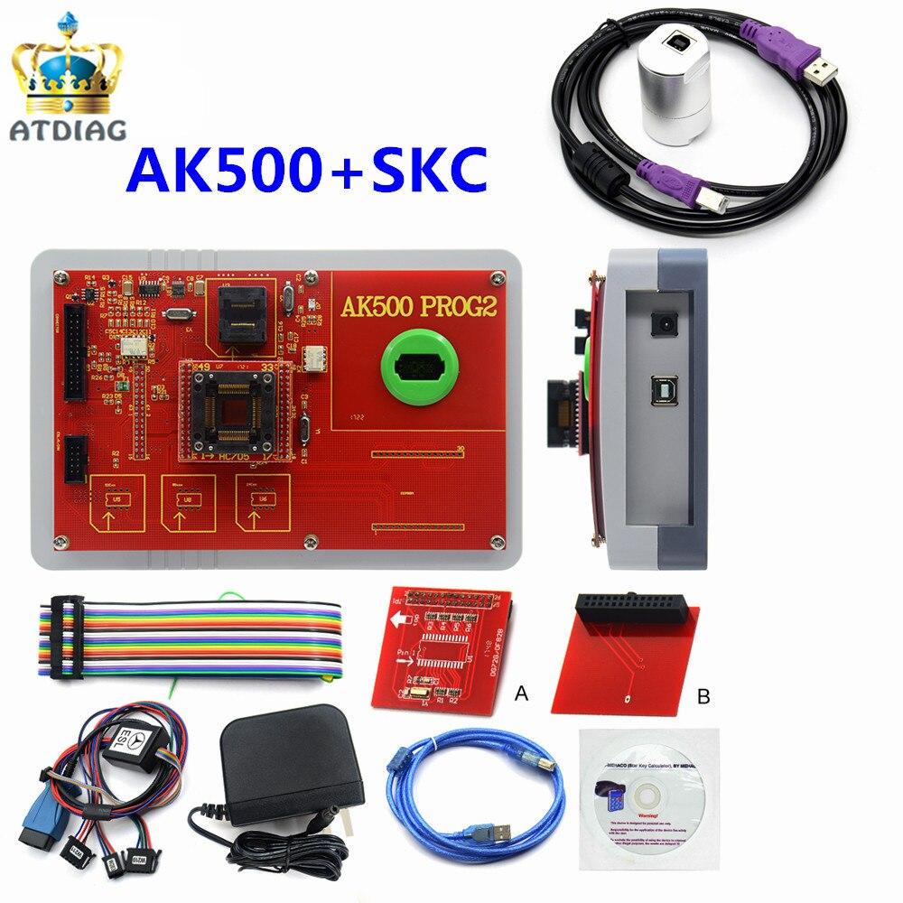 Newest AK500 Pro Full Set AK 500 Key Programmer AK500 SKC Main Unit For Mercedes For