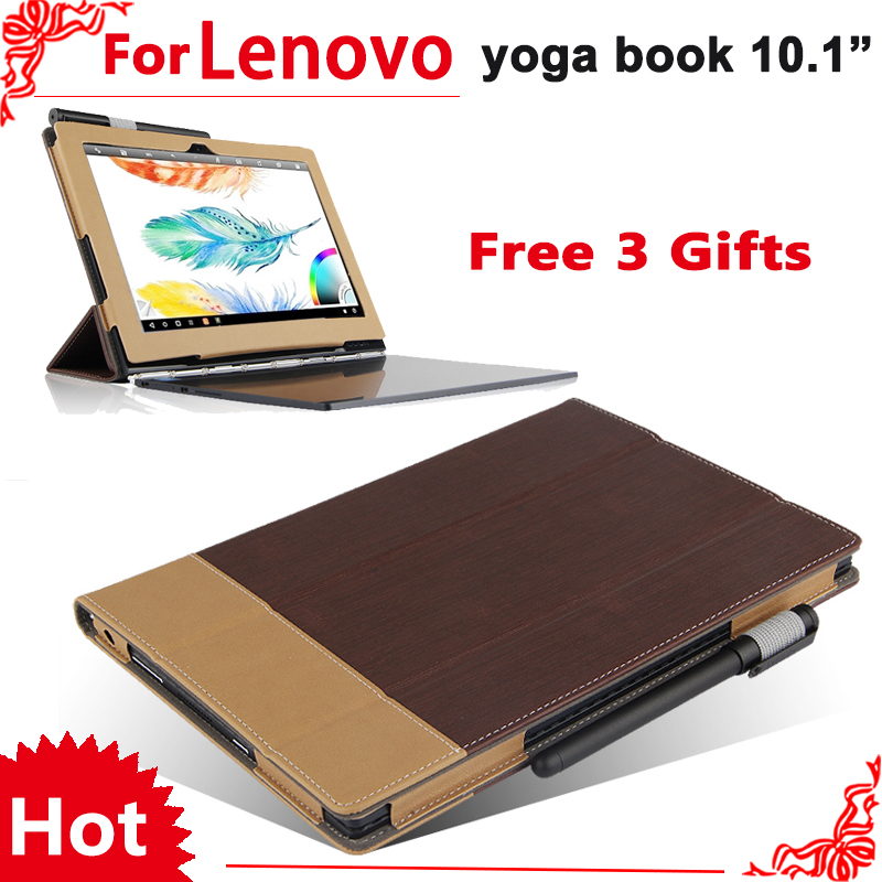 Book Cover Material Yoga : Case for lenovo yoga book magnetic pu leather stand