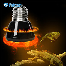 Top quality E27 Pet Heating lamp Black Infrared Ceramic Emitter Heat Light Bulb Pet Brooder Chickens Reptile Lamp 25/50/ 75/100W цена