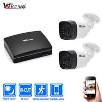 Wistino 1080P Outdoor Security Camera Kits 4Ch CCTV NVR Recorder IP Camera Night Vision Surveillance System
