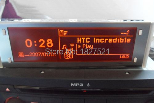 Original Support USB Bluetooth 4 Menu Display Red Screen Monitor 12 pin for Peugeot 307 407 408 citroen C4 C5