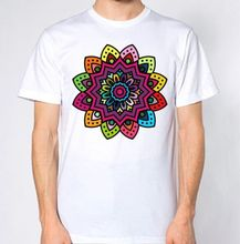 2018 New Fashion T Shirt Cotton O-Neck Style Short Sleeve Mens Mandala Tee