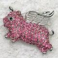 Atacado & varejo de Moda Broche de Strass Anjo porco Pin broches presente Jóias C102024
