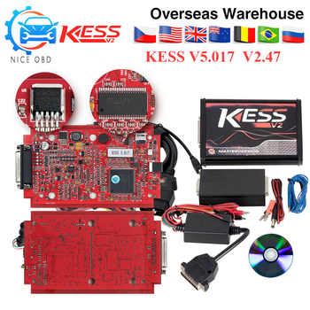 KESS V2 V5.017 V2.47 ECM ไทเทเนียม EU PCB สีแดง KTAG V7.020 4 LED รุ่น Master เครื่องมือการเขียนโปรแกรม ECU ไม่มี Token จำกัดรถ/รถบรรทุก/จักรยาน - DISCOUNT ITEM  36% OFF All Category