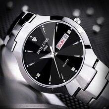 Holuns мужские часы лучший бренд класса люкс модные элегантные часы для влюбленных Вольфрамовая сталь водонепроницаемые кварцевые наручные часы montre femme
