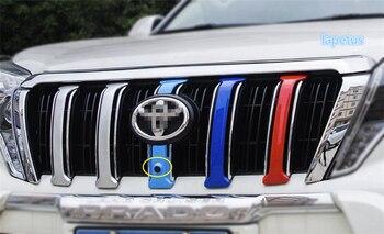 Lapetus ABS cara frontal parrilla colorido decoración recorte cubierta para Toyota Land Cruiser Prado FJ150 2014 de 2015 a 2016 2017