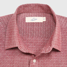 Casual Shirt Men Cotton Linen Dot Button Down Shirt Male Slim Fit Long Sleeve Business