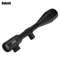 New 6 24X50 Adjustable Green Red Dot Illuminated Tactical Riflescope Reticle Optical Sight Scope