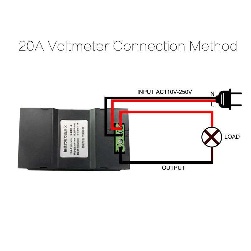 AC220V 20A Cyfrowy miernik napięcia Licznik energii LCD 5KW - Przyrządy pomiarowe - Zdjęcie 3
