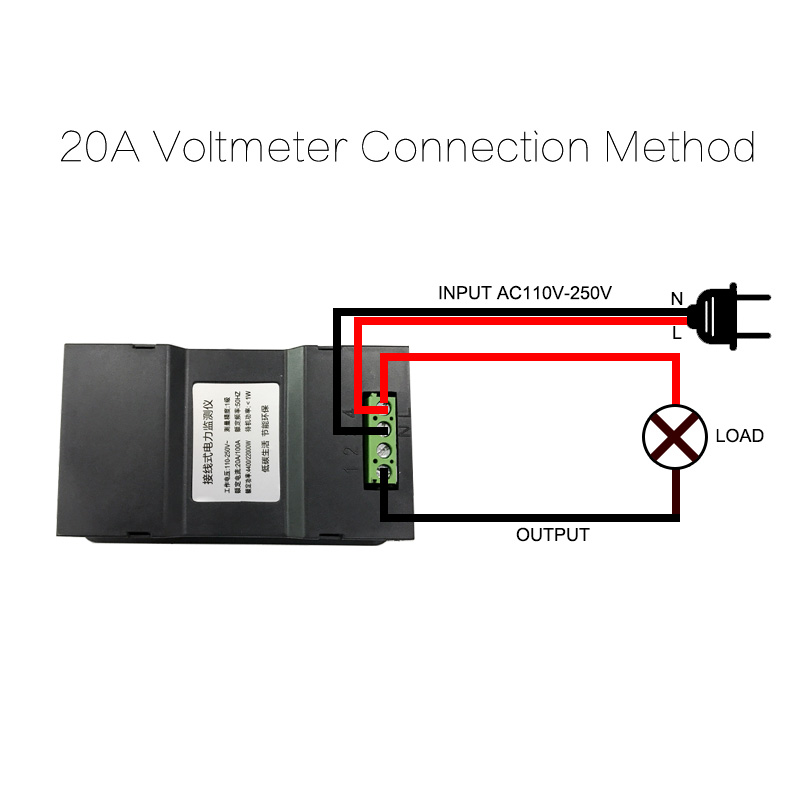 AC220V 20A Misuratore di tensione digitale Contatore di energia LCD - Strumenti di misura - Fotografia 3