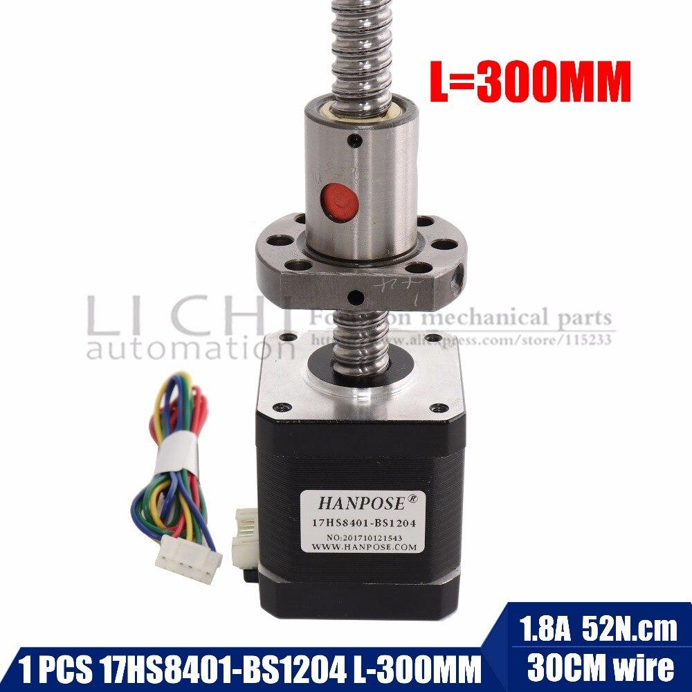 3d imprimer moteur nema17 moteur pas à pas avec vis à billes sfu1204-L300mm 42 moteur mill cut cnc machine de gravure 17HS8401