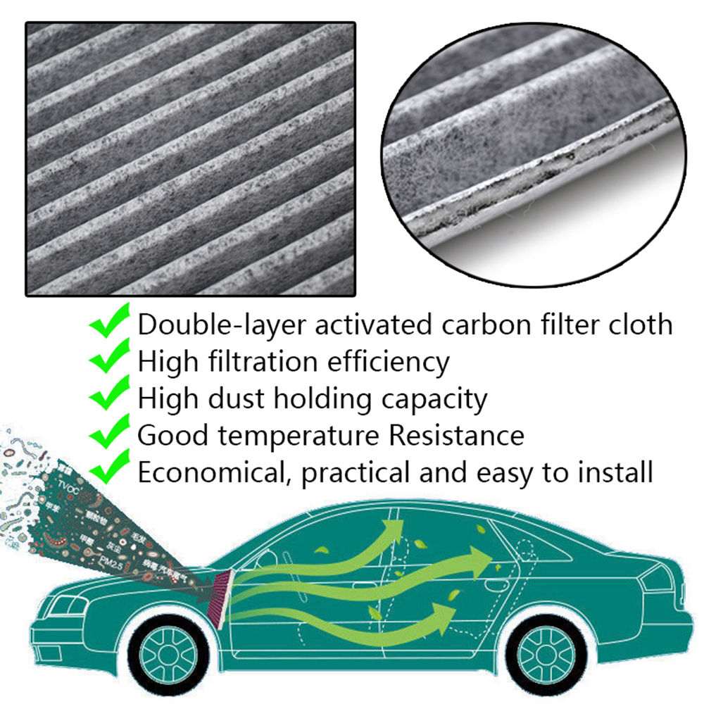 Image 3 - Car Pollen Cabin Air Filter 87139 YZZ08 87139 30070 87139 07010 For Toyota Auris Avensis Camry Corolla Hilux RAV4 Prius Yaris-in Air Filters from Automobiles & Motorcycles