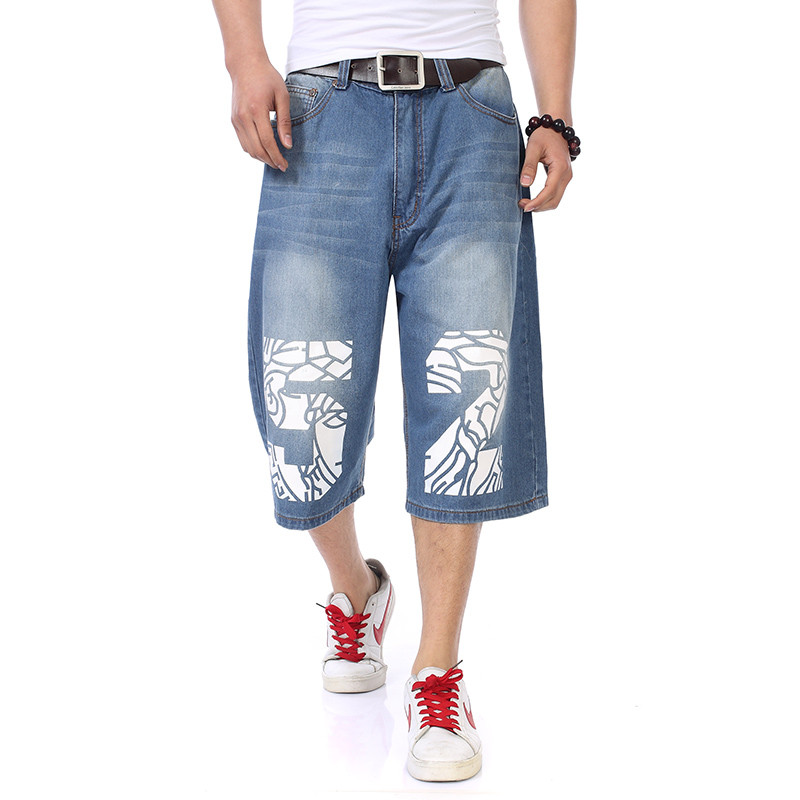 2017 New Men Jeans Wide Leg Denim Pants Loose Hip Hop Skateboard Jeans Straight Trousers Harem Baggy Pants 30-46 hot new large size jeans fashion loose jeans hip hop casual jeans wide leg jeans