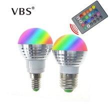 Bulb Spotlight Remote-Control 85-265V Bombillas Rgb-Lamp Magic-Holiday 16-Colors E14 E27