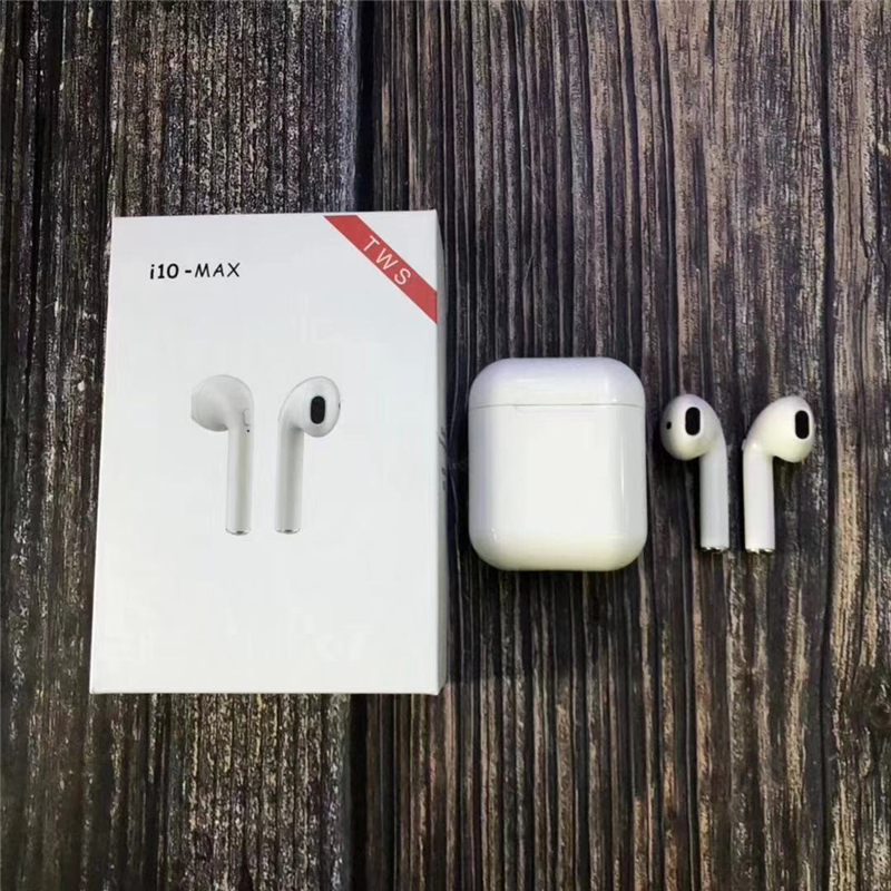 <font><b>i10</b></font> max <font><b>TWS</b></font> Wireless Earpiece <font><b>Bluetooth</b></font> <font><b>5.0</b></font> Earphones Earbuds Headsets With Mic For iPhone 8plus Xiaomi Huawei LG Samsung S6 S8 image
