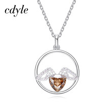 Cdyle Crystals from Swarovski Women Necklaces   Pendants S925 Sterling  Silver Fashion Jewelry Austrian Rhinestone Bijoux Gold 99d6634e8ab5
