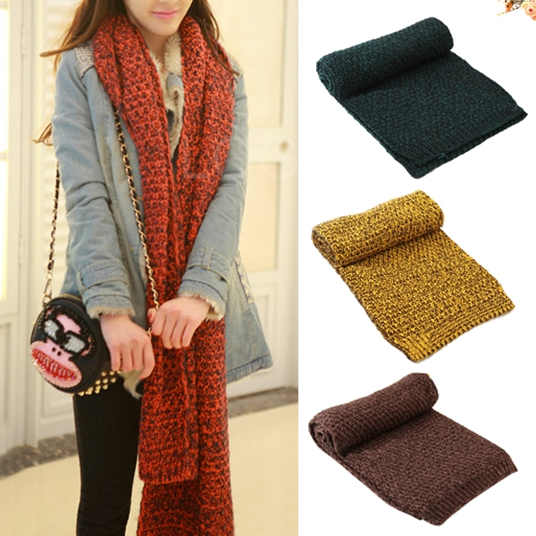 Brand New Men Women Lover Couples Knitted Scarf Warm Keeping Wrap Neck Warmer for first service