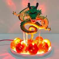 Bola de Dragón Z Shenron Led bolas de cristal figuras de acción juguete Anime Bola de Dragón Super shinglong Led figurita Esferas Del Dragón DBZ
