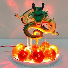 Dragon Ball Z Shenron Led kule kryształowe Action figurki zabawki Anime Dragon Ball Super Shenlong Led figurka Esferas Del Dragon DBZ