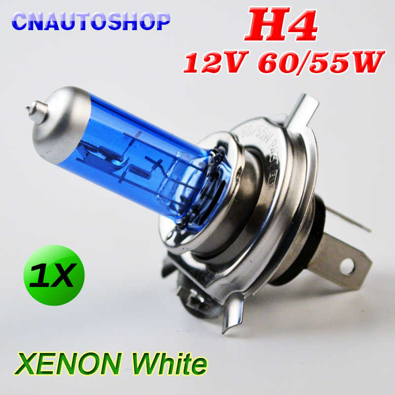 Hippcron H4 12V 60/55W Halogen Bulb Xenon Bright Dark Blue Glass Stainless Steel Base Auto Super White Car Fog Lamp