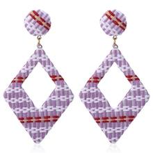 Bohopan Handmade weave Earrings  Fashion Geometric Hollow Drop Earring For women Bohemian Jewelry statement Wedding Party Gift