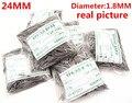 Wholesale 1000PCS / bag High quality watch repair tools & kits 24MM  spring bar watch repair parts diameter 1.8MM - BS835