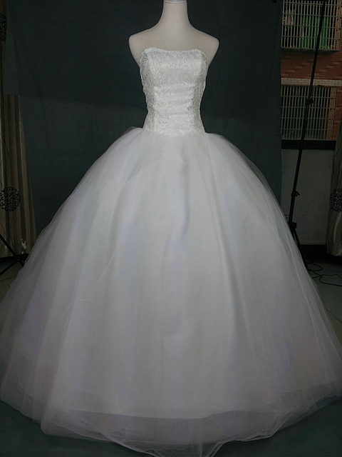 2015 High quality Hot sale trailing Wedding dress Strapless Tulle ...