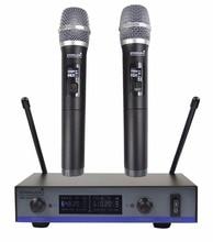 STARAUDIO Pro 2CH UHF Dinâmico Karaoke Microfone de Mão Sem Fio para DJ Stage Clube Festa Da Igreja SMU-0216A