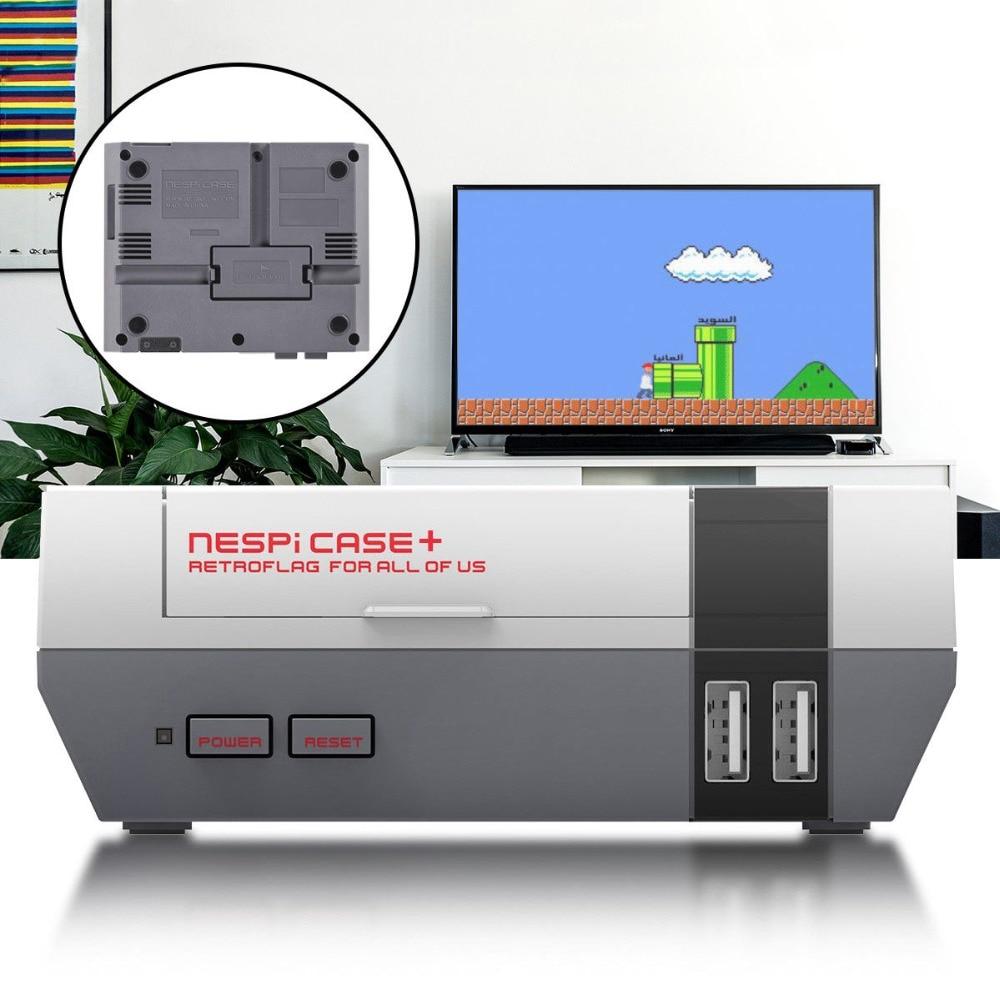 NEW Retroflag NESPi Case + Plus With Safe Shutdown Reset For NES Style Case Raspberry Pi 3 B 2 B B+ Bplus
