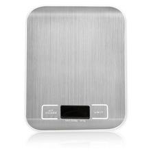Digital Scales Balance-Measure-Tools Led-Display Libra Stainless-Steel Silver Electronic