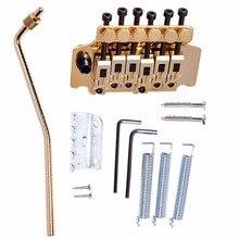 1 Unidades New Gold Tremolo Sistema de Doble Cierre Floyd Rose Trémolo de la Guitarra Puentes