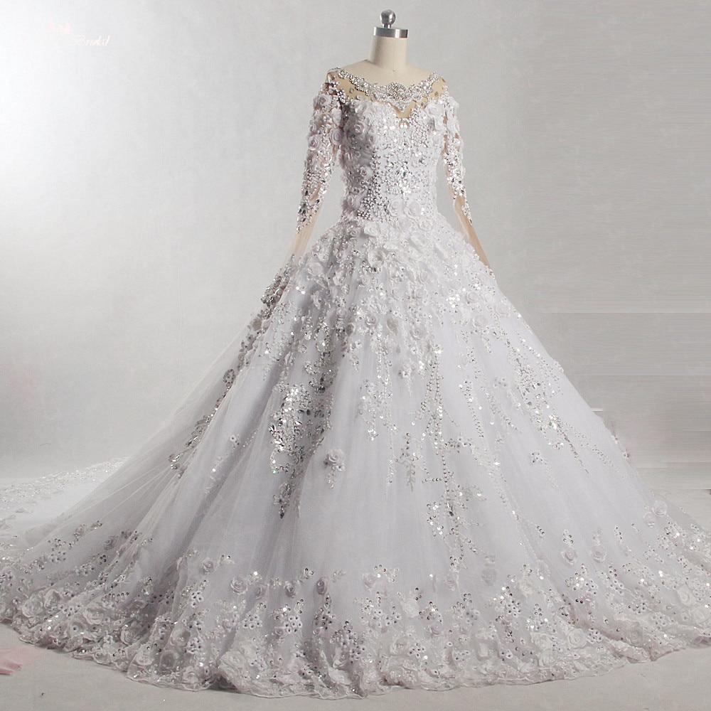 RSW871 2018 Luxury Long Sleeves Robe De Mariee Princesse De Luxe