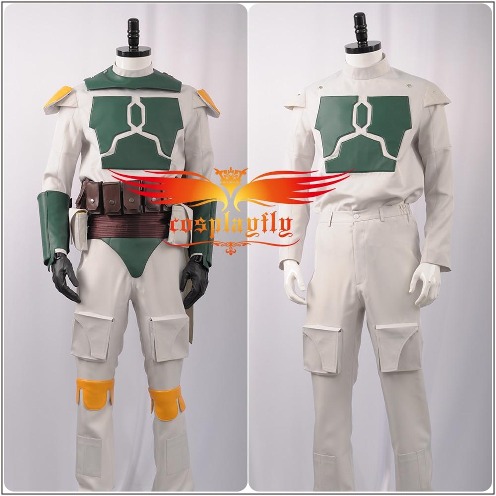 Boba Fett Mens Fancy Dress Star Wars Film Movie Villain Adult Costume Outfit New